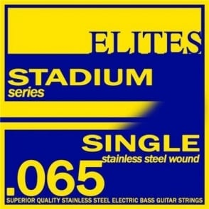 Elites Stadium Stainless Steel Wound Bass Guitar Single String .065 Long Scale