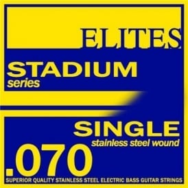 Elites Stadium Stainless Steel Wound Bass Guitar Single String .070 Long Scale