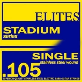 Elites Stadium Stainless Steel Wound Bass Guitar Single String .105 Long Scale