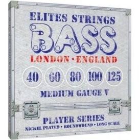 Elites Player Series 5-String 45-125 Nickel Wound Bass Strings