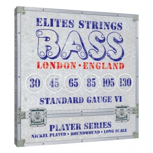 Elites Player Series 6-String 25-125 Nickel Wound Bass Strings