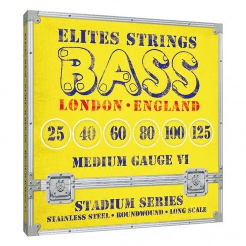 Elites Stadium Series 6-String 25-125 Stainless Steel Bass Strings