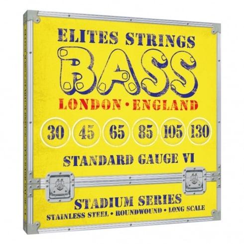 Elites Stadium Series 6-String 30-130 Stainless Steel Bass Strings