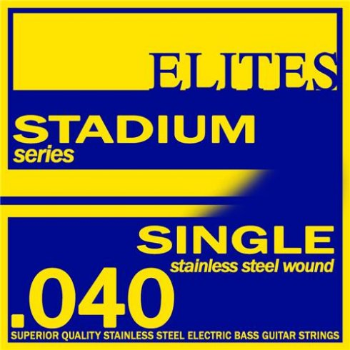 Elites Stadium Stainless Steel Wound Bass Guitar Single String .040 Long Scale