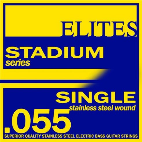 Elites Stadium Stainless Steel Wound Bass Guitar Single String .055 Long Scale