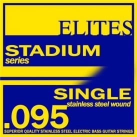 Elites Stadium Stainless Steel Wound Bass Guitar Single String .095 Long Scale
