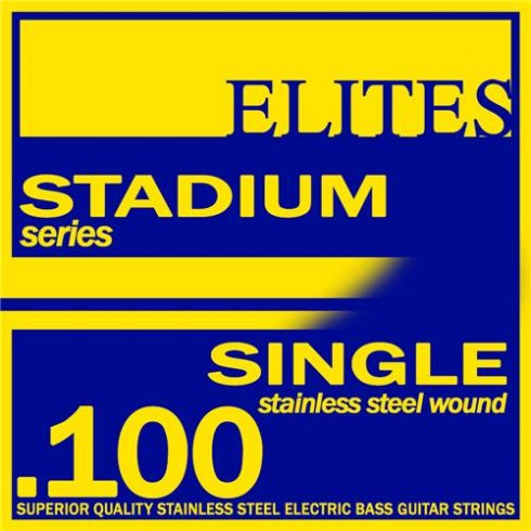 Elites Stadium Stainless Steel Wound Bass Guitar Single String .100 Long Scale