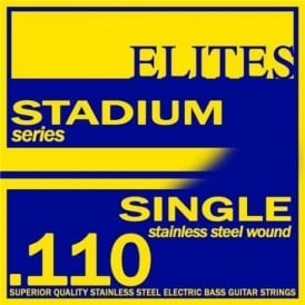 Elites Stadium Stainless Steel Wound Bass Guitar Single String .110 Long Scale