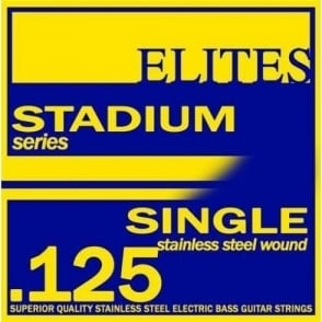Elites Stadium Stainless Steel Wound Bass Guitar Single String .125 Long Scale Low B