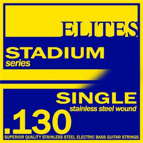 Elites Stadium Stainless Steel Wound Bass Guitar Single String .130 Long Scale