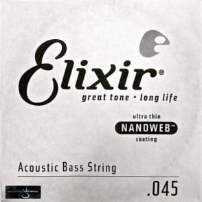 Elixir Nanoweb Acoustic Bass Single String .045 Long Scale
