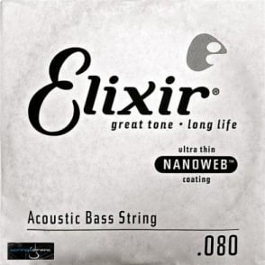 Elixir Nanoweb Acoustic Bass Single String .080 Long Scale