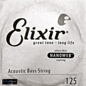 Elixir Nanoweb Acoustic Bass Single String .125 Long Scale Low B