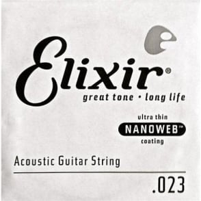 Elixir Nanoweb E15123 80/20 Bronze Acoustic Guitar Single String .023