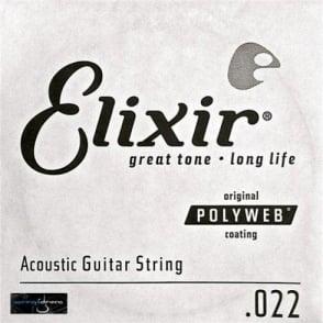 Elixir Polyweb E13122 80/20 Bronze Acoustic Guitar Single String .022