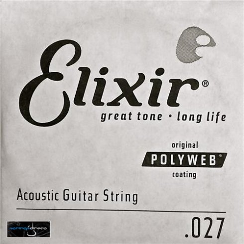 Elixir Polyweb E13127 80/20 Bronze Acoustic Guitar Single String .027