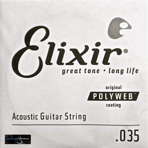 Elixir Polyweb E13135 80/20 Bronze Acoustic Guitar Single String .035