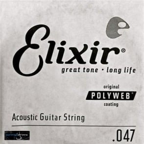 Elixir Polyweb E13147 80/20 Bronze Acoustic Guitar Single String .047