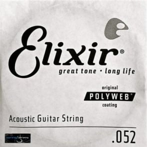 Elixir Polyweb E13152 80/20 Bronze Acoustic Guitar Single String .052