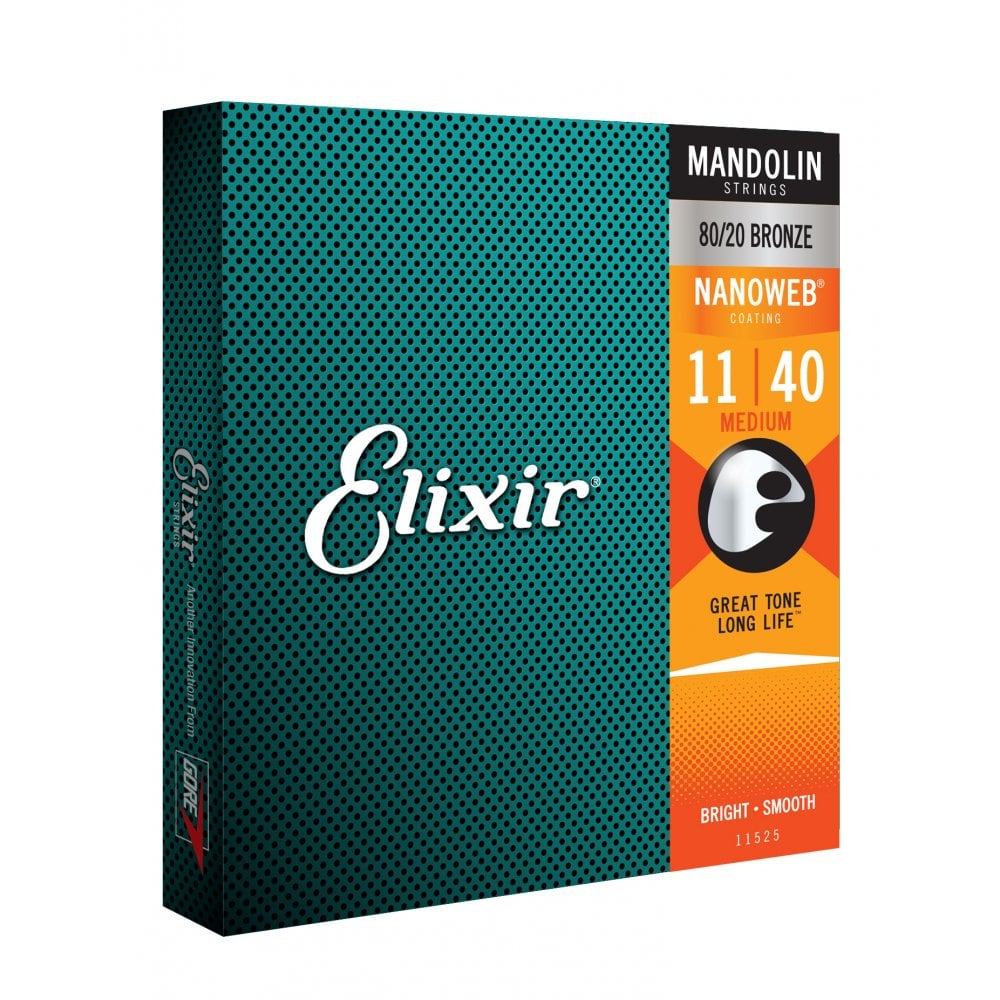 Elixir Nanoweb 11-40 80/20 Bronze Mandolin Strings