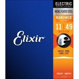 Elixir Nanoweb 11-49 Nickel Electric Guitar Strings