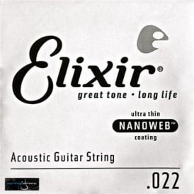 Elixir Nanoweb 80/20 Bronze Single String .022