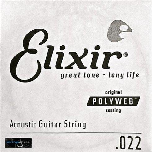 Elixir Nanoweb 80/20 Bronze Single String .022