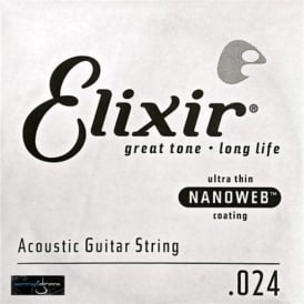 Elixir Nanoweb 80/20 Bronze Single String .024