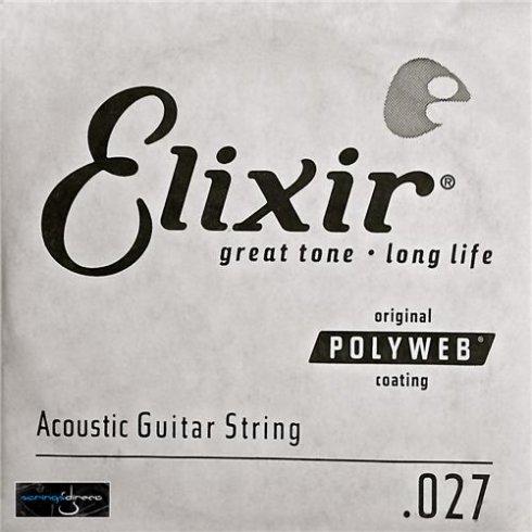 Elixir Nanoweb 80/20 Bronze Single String .027