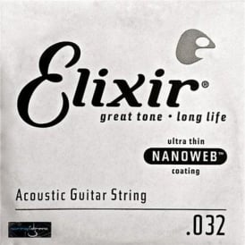 Elixir Nanoweb 80/20 Bronze Single String .032