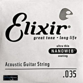 Elixir Nanoweb 80/20 Bronze Single String .035