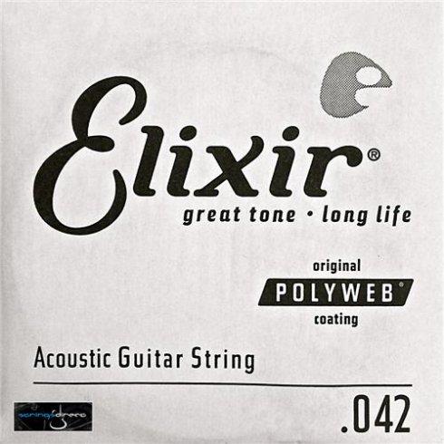 Elixir Nanoweb 80/20 Bronze Single String .042