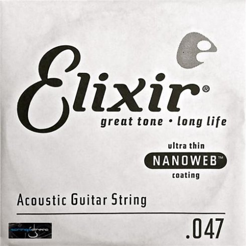 Elixir Nanoweb 80/20 Bronze Single String .047