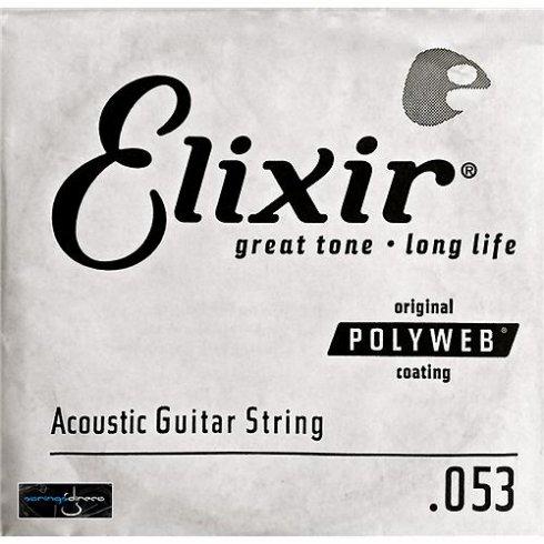 Elixir Nanoweb 80/20 Bronze Single String .053