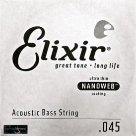 Elixir Nanoweb Acoustic Bass Single String .045, Long Scale