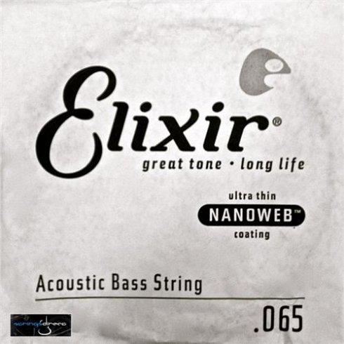 Elixir Nanoweb Acoustic Bass Single String .065, Long Scale