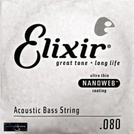 Elixir Nanoweb Acoustic Bass Single String .080, Long Scale
