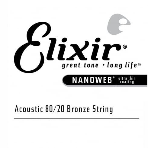 Elixir Nanoweb E15159 80/20 Bronze Acoustic Guitar Single String .059