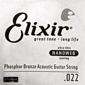 Elixir Nanoweb Phosphor Bronze Single String .022