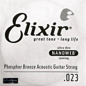 Elixir Nanoweb Phosphor Bronze Single String .023