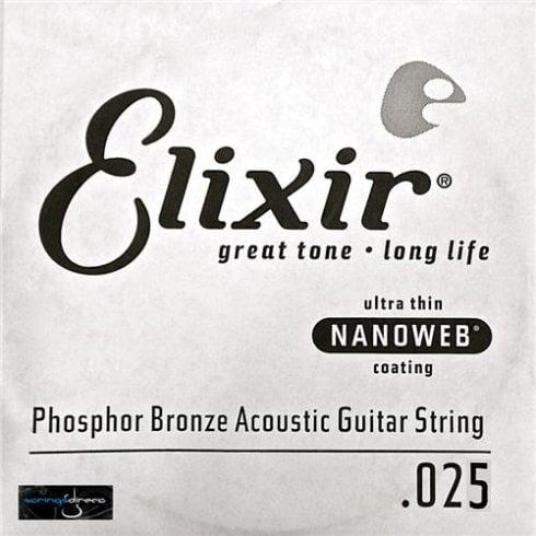 Elixir Nanoweb Phosphor Bronze Single String .025
