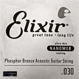 Elixir Nanoweb Phosphor Bronze Single String .030
