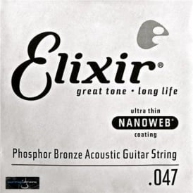 Elixir Nanoweb Phosphor Bronze Single String .047