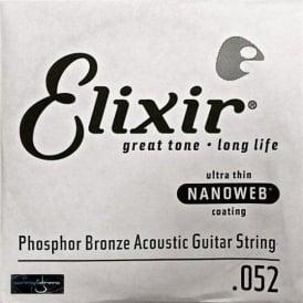 Elixir Nanoweb Phosphor Bronze Single String .052