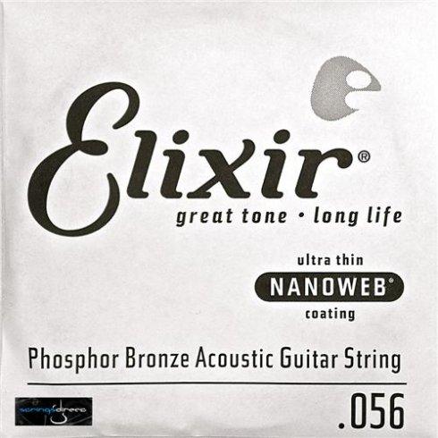 Elixir Nanoweb Phosphor Bronze Single String .056