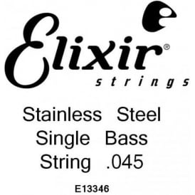 Elixir Nanoweb Stainless Steel Bass Single String .045