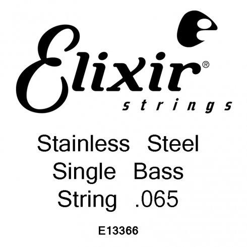 Elixir Nanoweb Stainless Steel Bass Single String .065