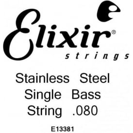 Elixir Nanoweb Stainless Steel Bass Single String .080