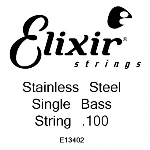 Elixir Nanoweb Stainless Steel Bass Single String .100