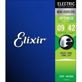 Elixir Optiweb 9-42 Nickel Electric Guitar Strings
